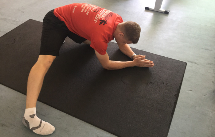 adductor stretch matrix image