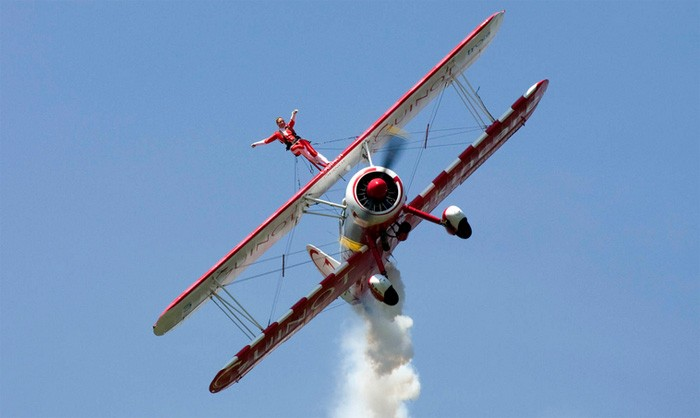 charity wing walking image