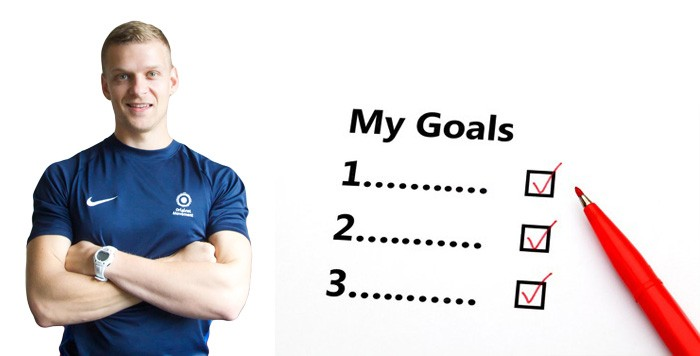 goal setting with personal trainer image